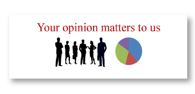 "button with silhouette people text ""your opinion matters to us"""