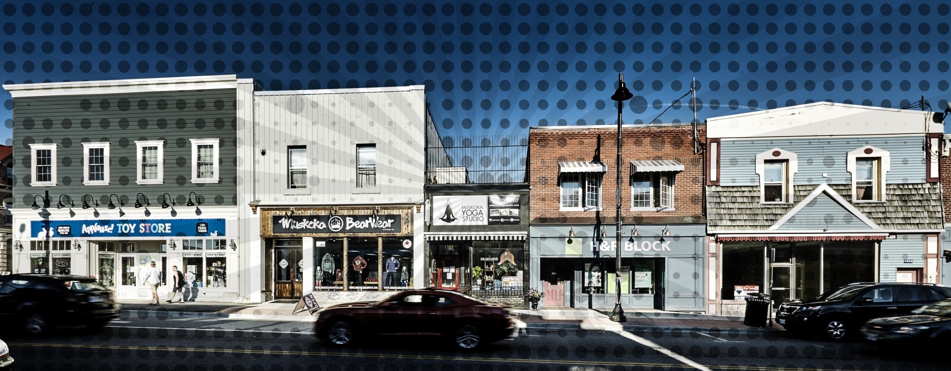 Artistic Streetscape of Downtown Gravenhurst