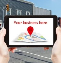 "Map Application saying ""Your Business Here"""