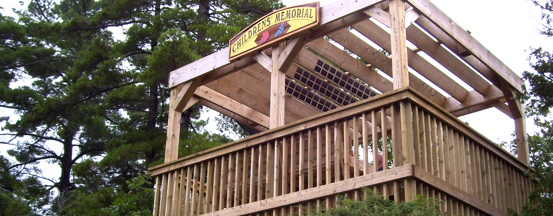Community dedications, Children's Gazebo at Muskoka Wharf overlooking Lake Muskoka
