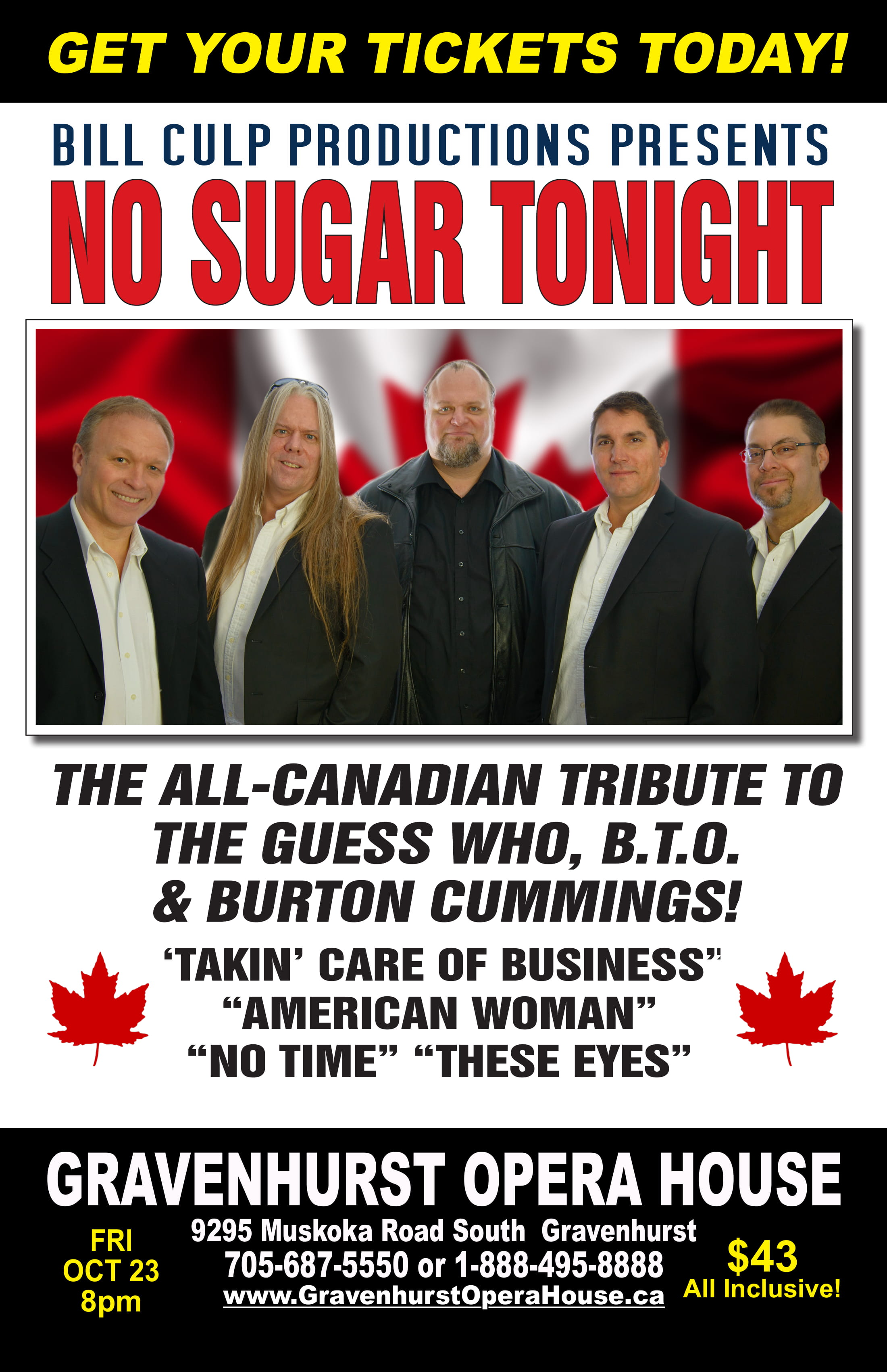 Promotional poster for the upcoming No Sugar Tonight concert on October 23, 2020
