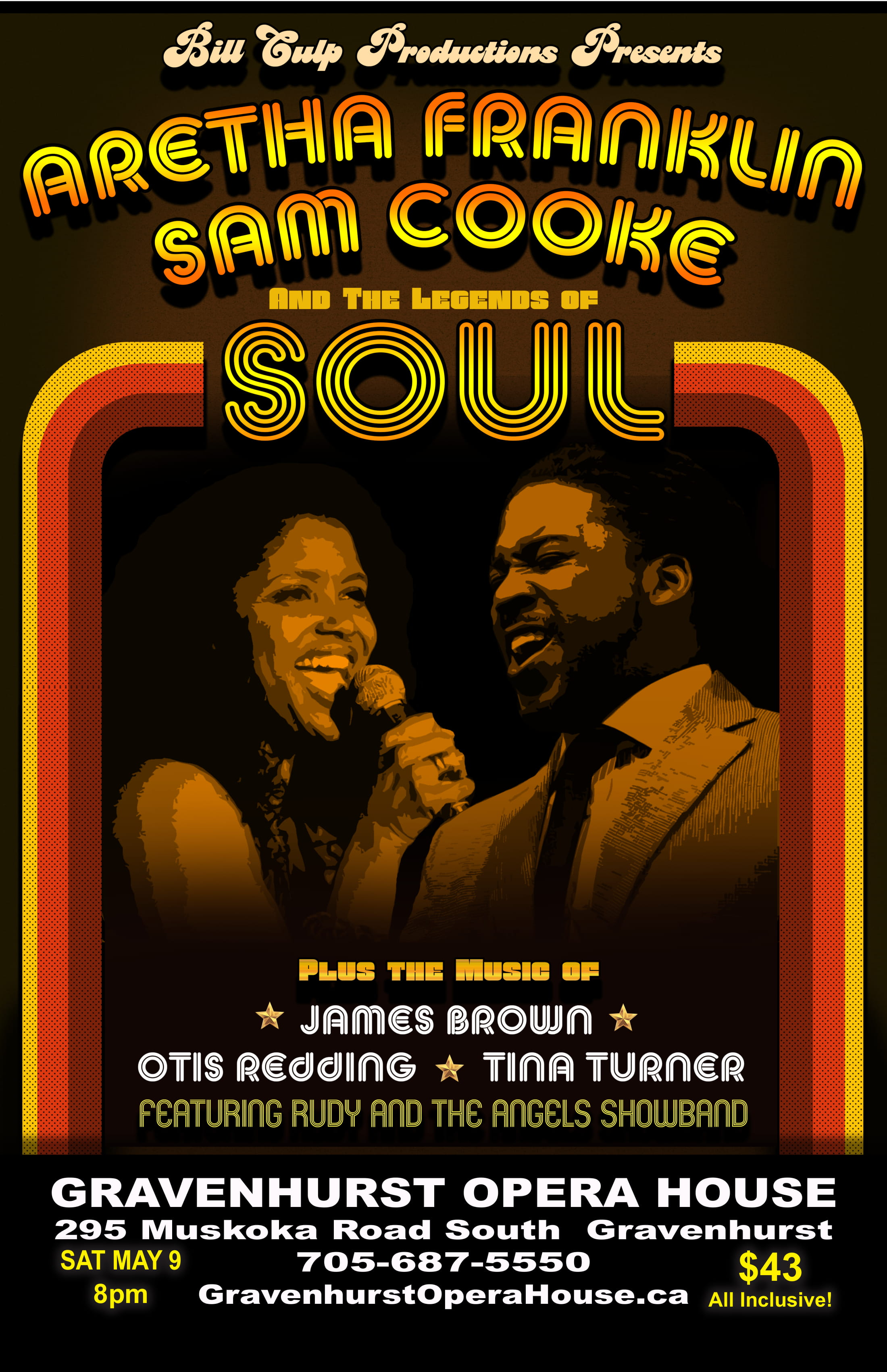 Promotional Poster for the upcoming Legends of Soul Tribute concert on May 9, 2020
