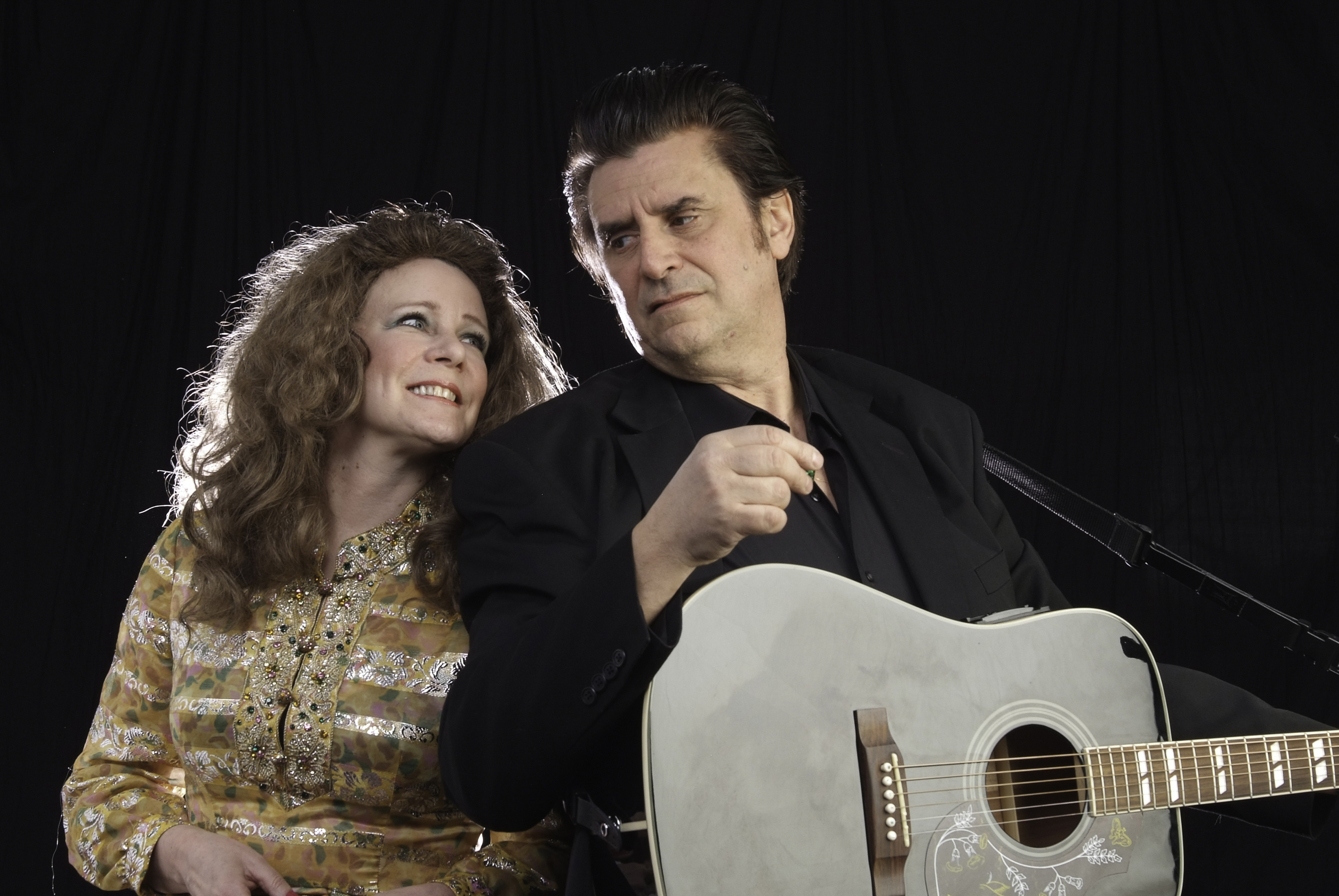 Promotional image for the upcoming Johnny Cash Tribute at Music on the Barge on July 28