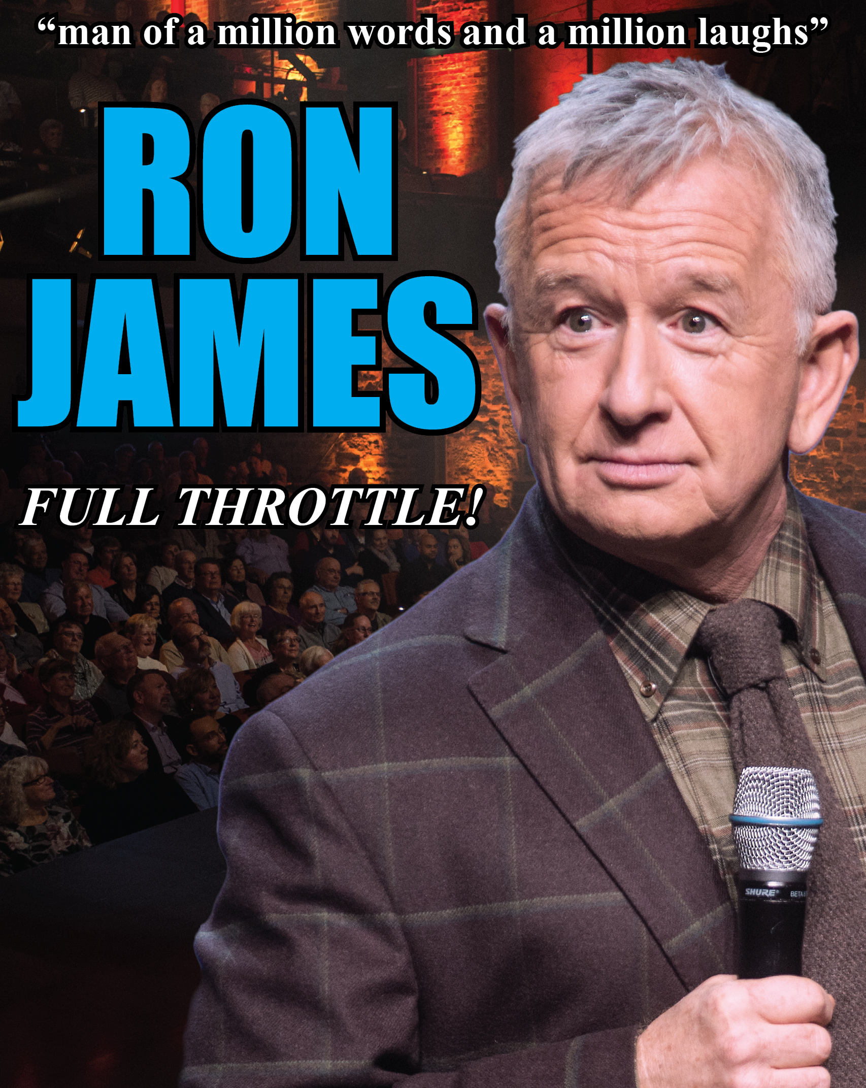Promotional Image for the upcoming Ron James comedy show at the Gravenhurst Opera House February 27