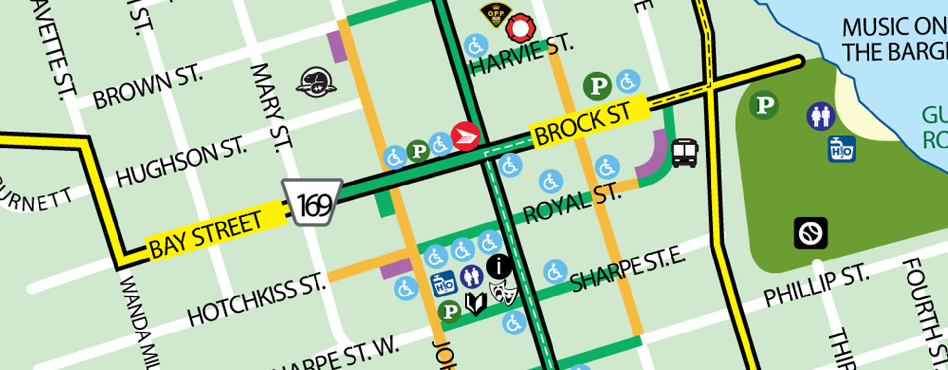 Parking Map of Gravenhurst Banner