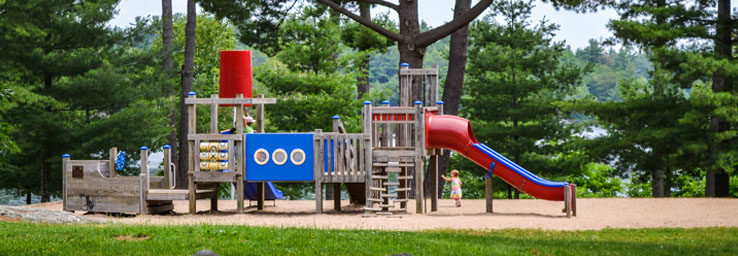 Play equipment at a park