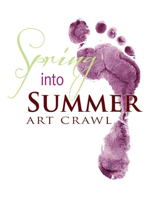 Logo for the Spring Into Summer Art Crawl