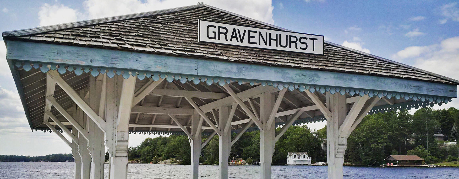 Gravenhurst sign at Muskoka Wharf