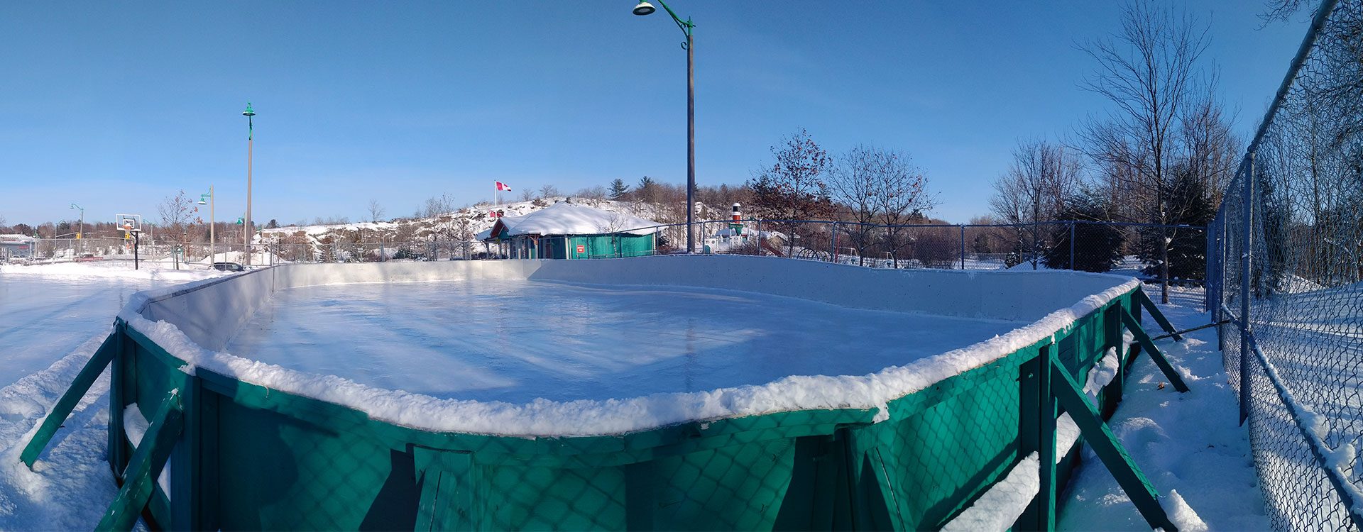 outdoor facilities, wharf ice rink