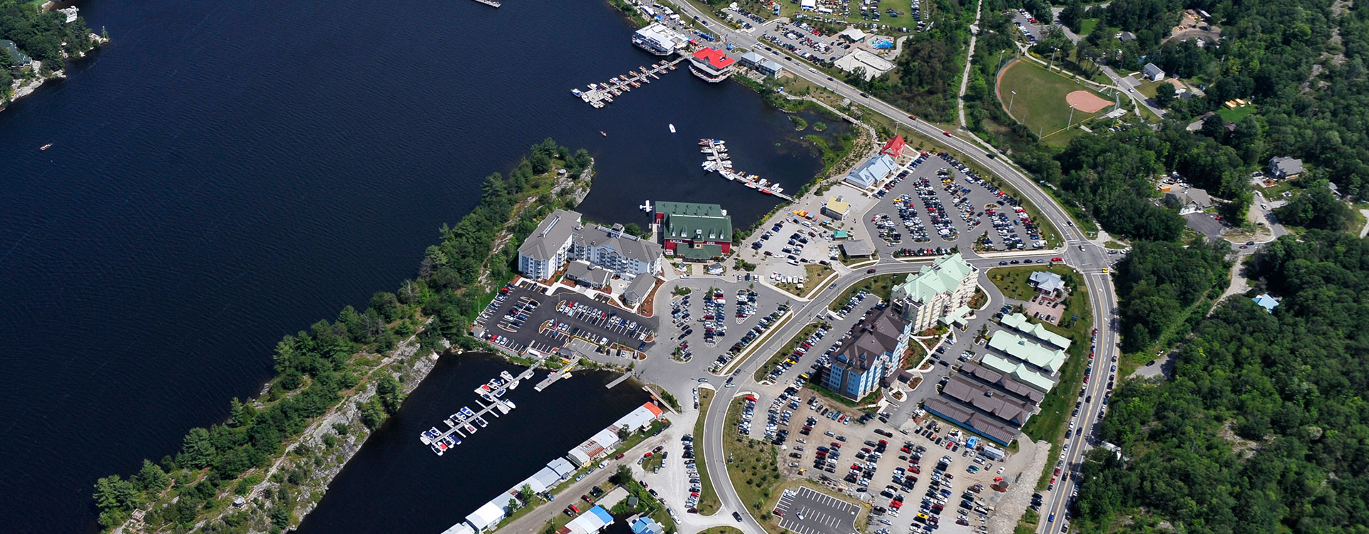 Aerial view Town of Gravenhurst, Town Hall Home Page
