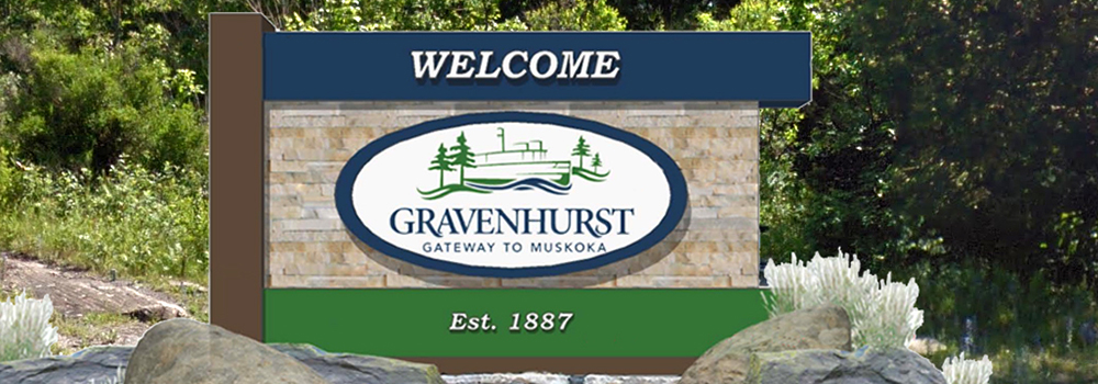Welcome to Gravenhurst Wayfinding Sign